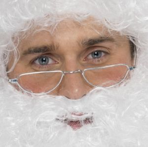 Christmas Fancy Dress Half Moon Santa Specs Glasses