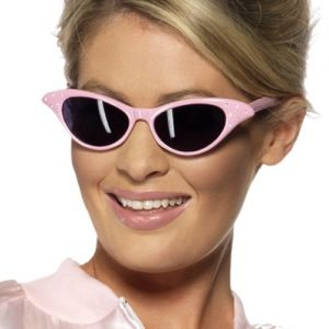 Ladies 50s Rock n Roll Glasses - Pink