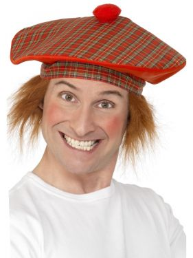 Tam 'O' Shanter Deluxe Large Scottish Fancy Dress Jock Hat & Hair