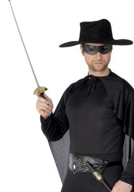 Musketeer Rapier Sword, Scabbard & Eyemask