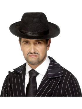Gangster Fancy Dress - Felt Trilby Hat - Black