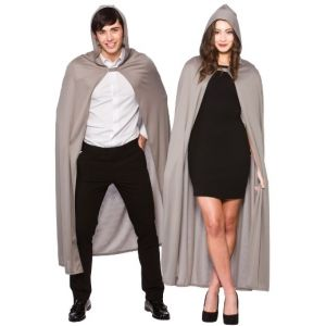 Adult Long Hooded Cape - Grey