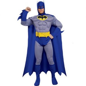 Mens Deluxe Adult Batman Muscle Costume