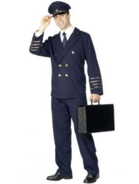 Mens Airline Pilot Costume - M & L