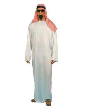Mens Arab Fake Sheik Fancy Dress Costume