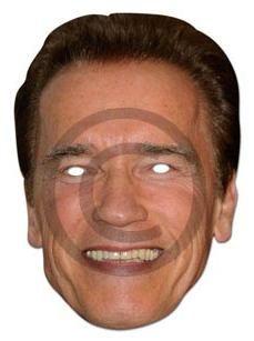 Arnold Schwarzenegger Mask - Celebrity Card Mask - Terminator