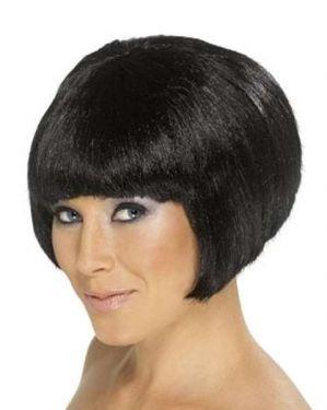 Ladies Babe Fancy Dress Bob Wig Black