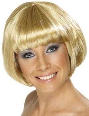 Ladies Babe Bob Fancy Dress Wig Blonde