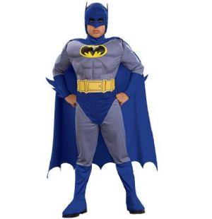 Childrens Muscle Batman Fancy Dress Costume