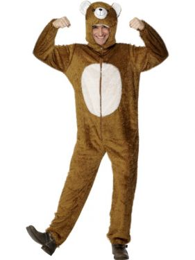 Adult Fancy Dress Bear Costume Animal Suit