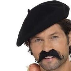 Frenchman Fancy Dress Beret - Black