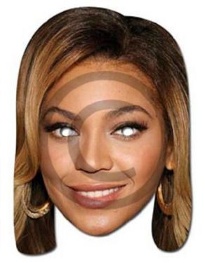 Celebrity Fancy Dress Mask - Beyonce Mask