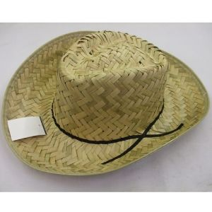 Cowboy Fancy Dress Straw Hat - Beige