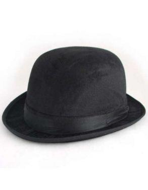 Adult Fancy Dress Bowler Hat - Black