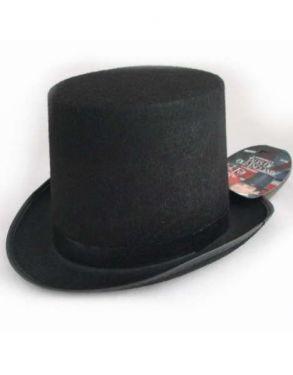 Fancy Dress Hat - Stovepipe Top Hat - Black