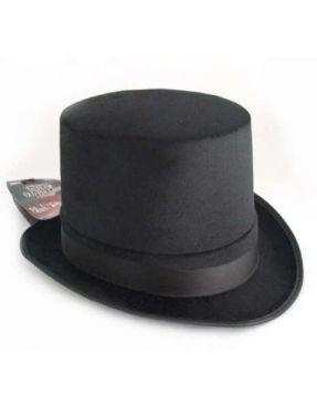 Fancy Dress Topper Top Hat - Black