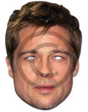 Celebrity Fancy Dress Mask - Brad Pitt Mask