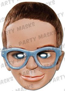 Thunderbirds Fancy Dress Mask - Brains Card Mask