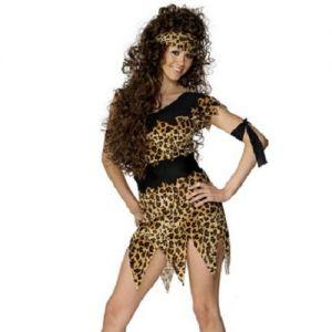 Cavewoman Fancy Dress Costume - S, M, L or XL