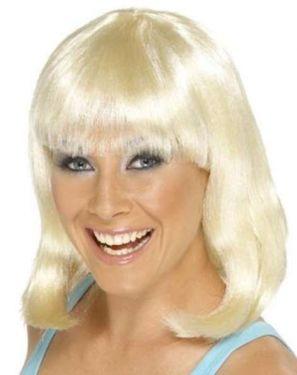 Womens Fancy Dress Cheerleader Wig Blonde