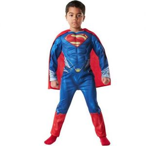 Childrens Muscle Superman Man of Steel Costume - S, M & L