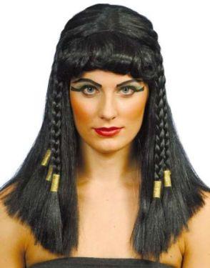 Ladies Egyptian Cleopatra Wig - Black