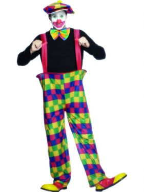 Adult Fancy Dress - Mens Clown Costume - M & L