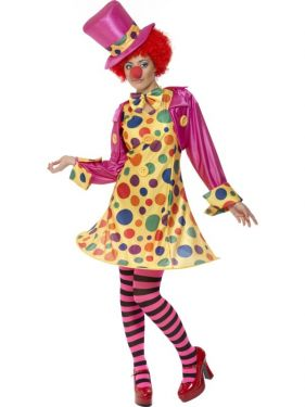 Ladies Clown Lady Fancy Dress Costume