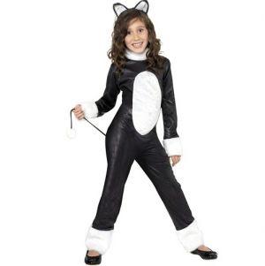 Childrens Halloween Cool Cat Fancy Dress Costume