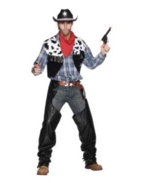 Mens Cowboy Fancy Dress Costume - Black