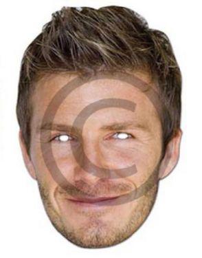 Celebrity Fancy Dress Mask - David Beckham Card Mask