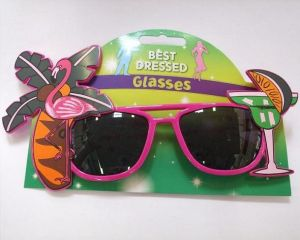 Hawaiian Fancy Dress Sunglasses - Pink