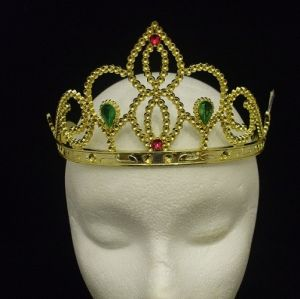 Girls Fancy Dress Tiara - Gold Coloured