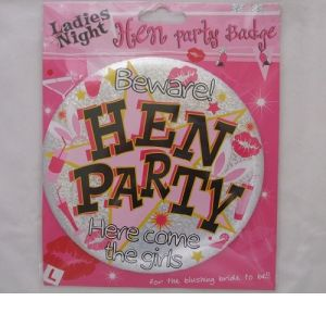 Jumbo Hen Party Badge
