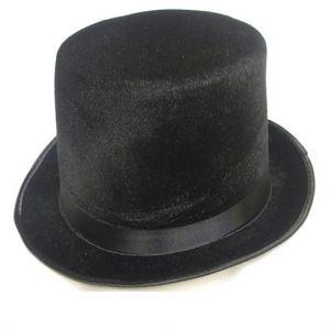 Fancy Dress Lincoln High Top Hat - Topper Hat - Black Velour