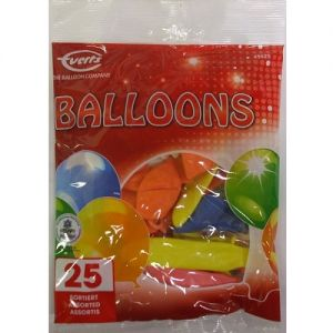 Pack of 25 Party Balloons