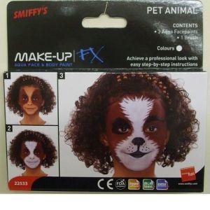 Smiffys FX Animal Kit Face Paint Make Up - 3 Colours