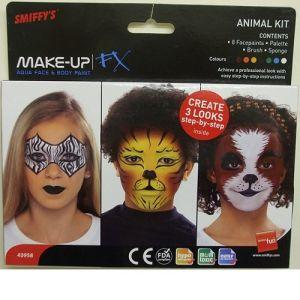 Smiffys FX Animal Face Paint Make Up Kit - 8 Colours