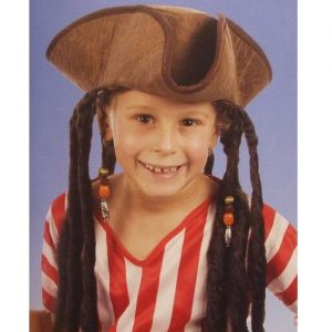 Childrens Pirate Hat with Hair