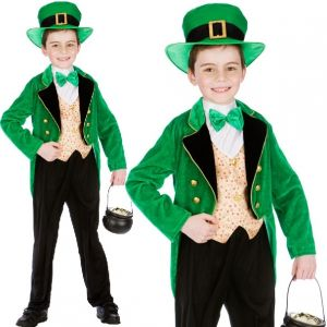 Childs Deluxe Leprechaun St Patrick's Day Costume