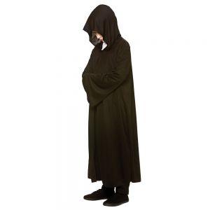Childrens Hooded Fabric Reaper Robe - Black