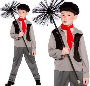 Childrens Victorian Poor Chimney Sweep Costume