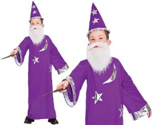 Childrens Wizard Fancy Dress Costume