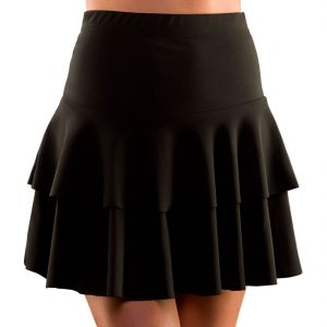 1980s Fancy Dress Ra Ra Skirt - Black