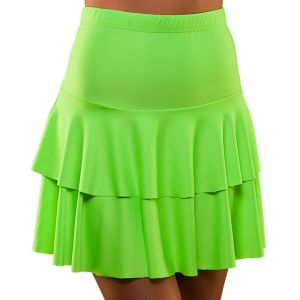 1980s Fancy Dress Neon Ra Ra Skirt - Green