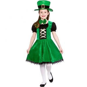 Girls Deluxe Leprechaun St Patrick's Day Costume