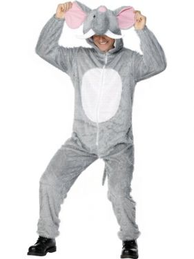 "Adult Fancy Dress - Elephant Costume - Animal Suit- 38/42"" Chest"