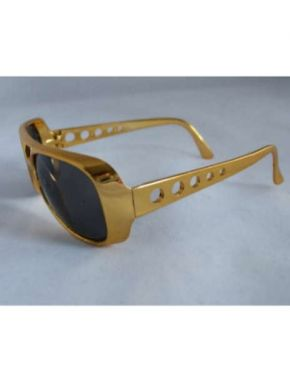 Elvis Fancy Dress Gold Coloured Sunglasses