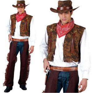 Mens Brown Cowboy Costume