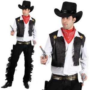 Mens Black Cowboy Costume